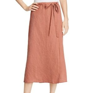 NWT Eileen Fisher Organic Faux Linen Wrap Skirt